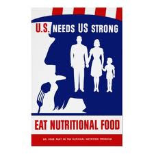 vintage nutrition education propaganda poster