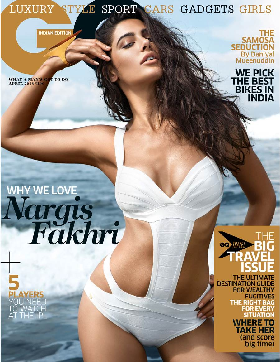 Nargis Fakhri on GQ India April 2013 Cover Page