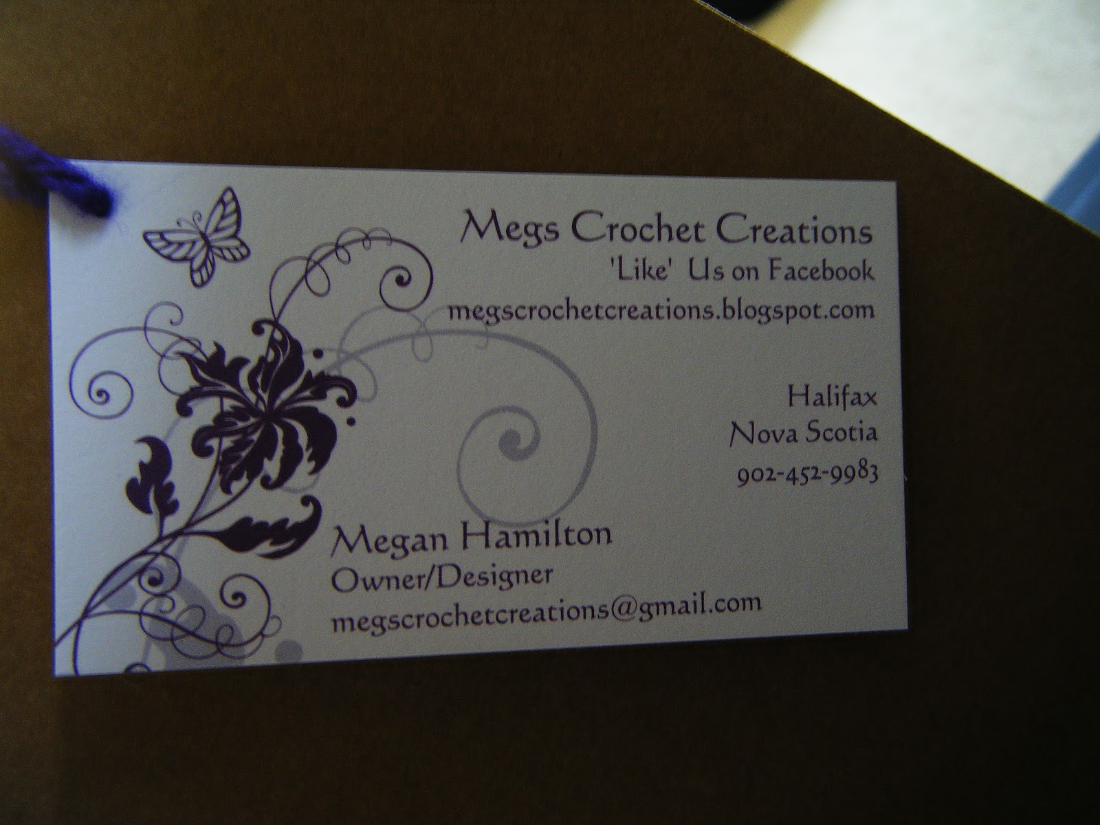 Crocheting Business : My new business cards.?