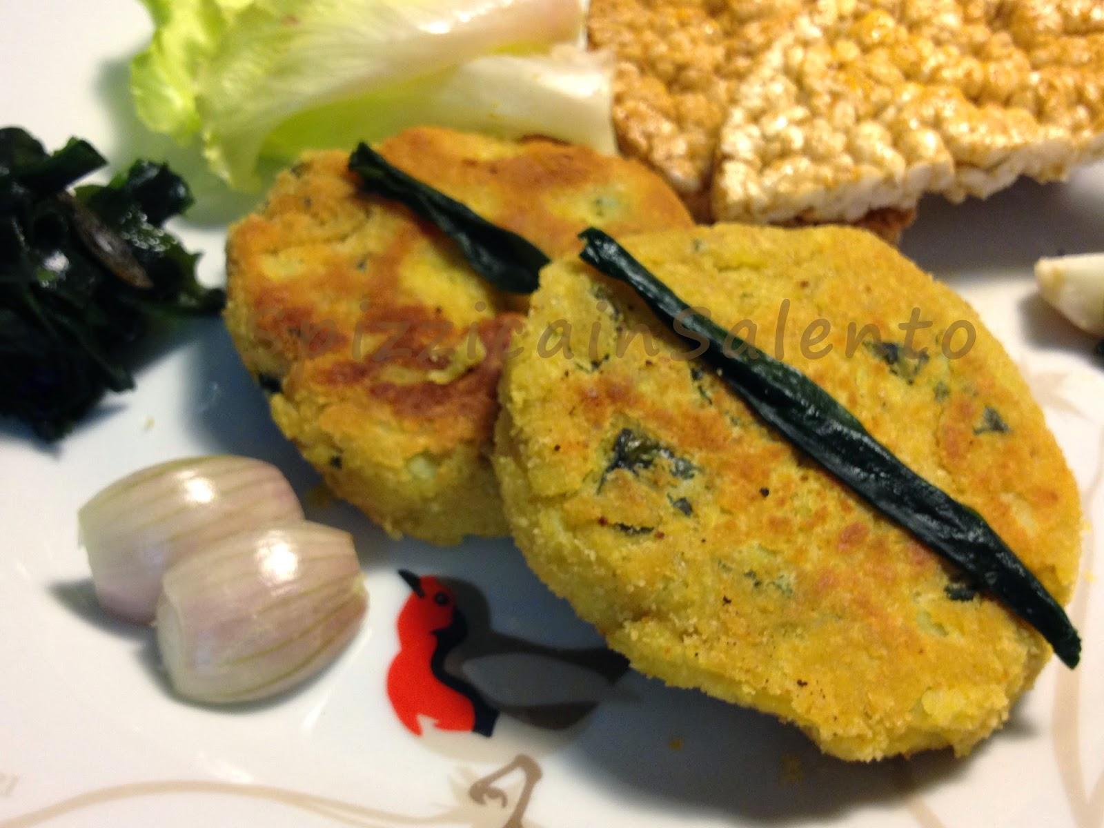 hamburger vegetariano con alga wakame e ceci