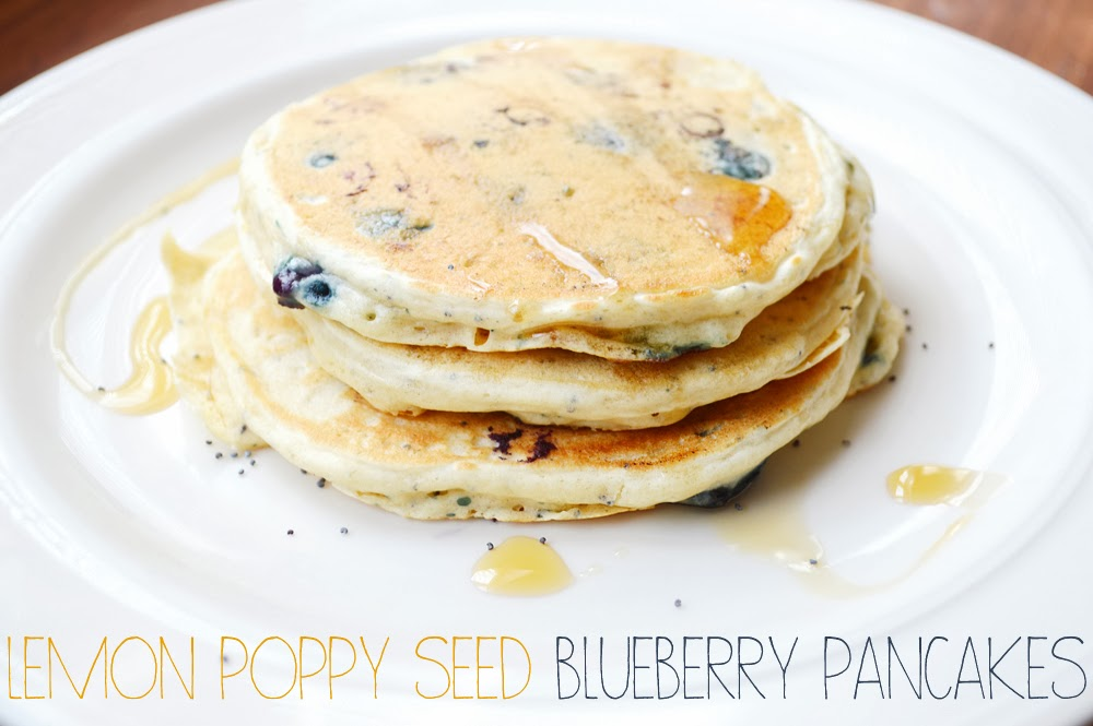 Peachy Cheek: lemon poppy seed and blueberry pancakes