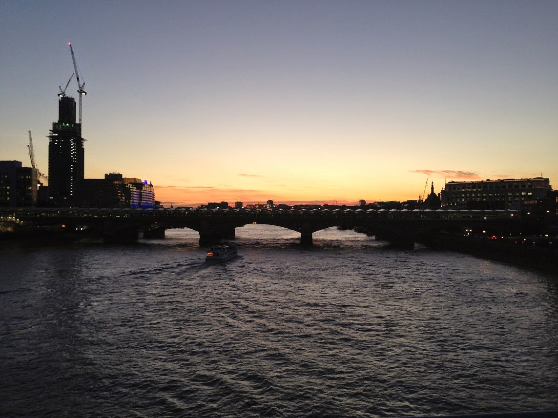 Sunset over London, taken from the Millennium Bridge