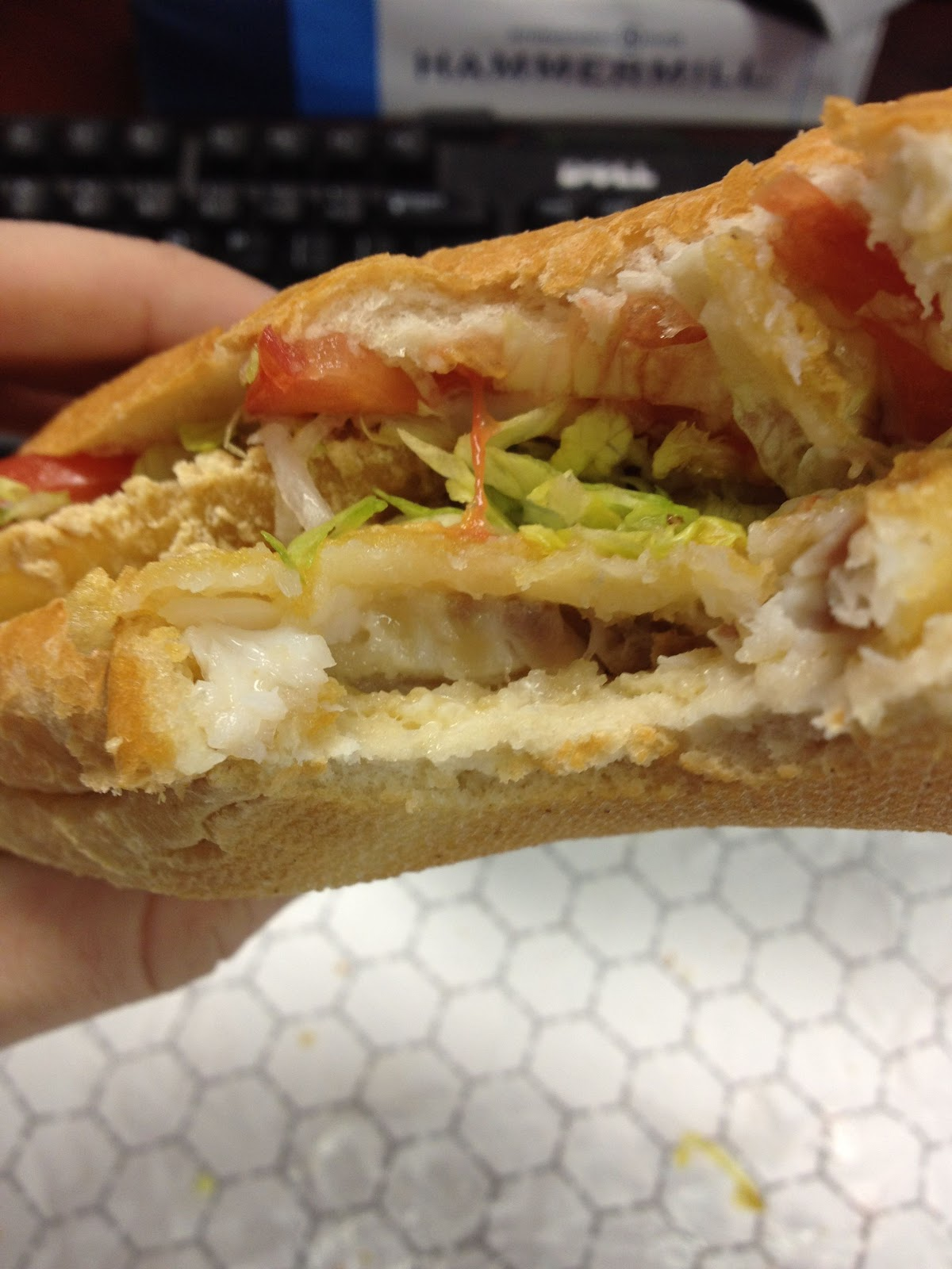 Fast food geek sheetz fish sandwich review for Fish sandwich fast food