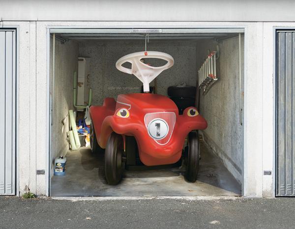 Garagentor design aufkleber  Rollläden Rolltore: Aufkleber fürs Garagentor - eine tolle optische ...