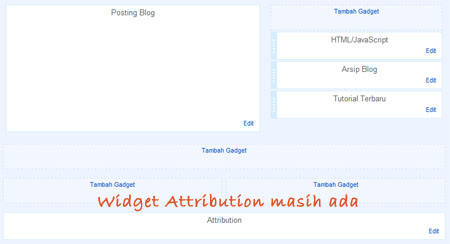 attribution widget