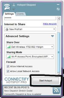 Create A WiFi Hotspot In Windows 7/ 8