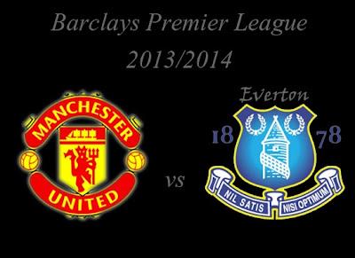 Manchester United vs Everton Premier league 2013