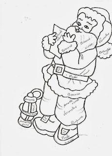 desenho papai noel com lampeão para pintar