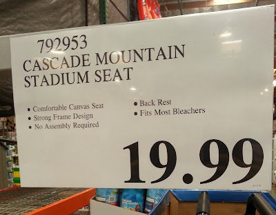 Deal for the Cascade Mountain Tech Stadium Seat at Costco