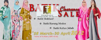 Batik Clearance  Sale
