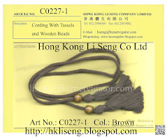 Cording with Tassels and Wooden Beads Manufacturer - Hong Kong Li Seng Co Ltd