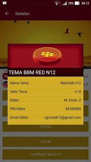 BBM MOD RED DARK N12 2.9.0.51 APK