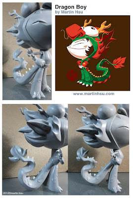 """Dragon Boy"" a solo exhibit featuring the works of Martin Hsu - Dragon Boy Designer Toy Prototype Teaser Images"