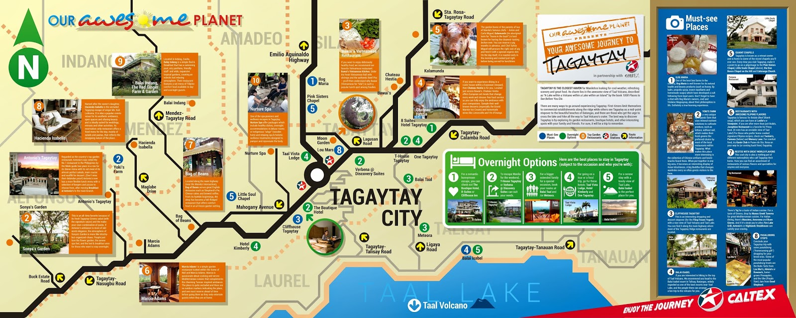 Tagaytay City Tourist Guide Infographic