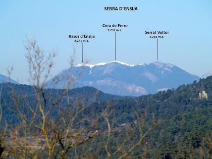 La Serra d'Ensija des del Pla de la Terma