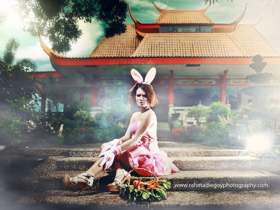 foto model konsep kelinci rabbit 1