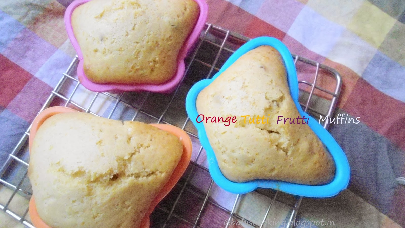 eggless muffins(orange flavoured)