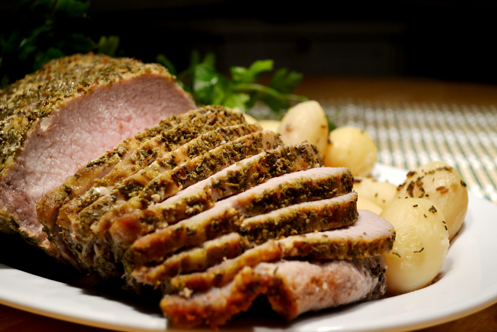 Food: Fashionable Delights: Yuly's Herb Crusted Pork Tenderloin