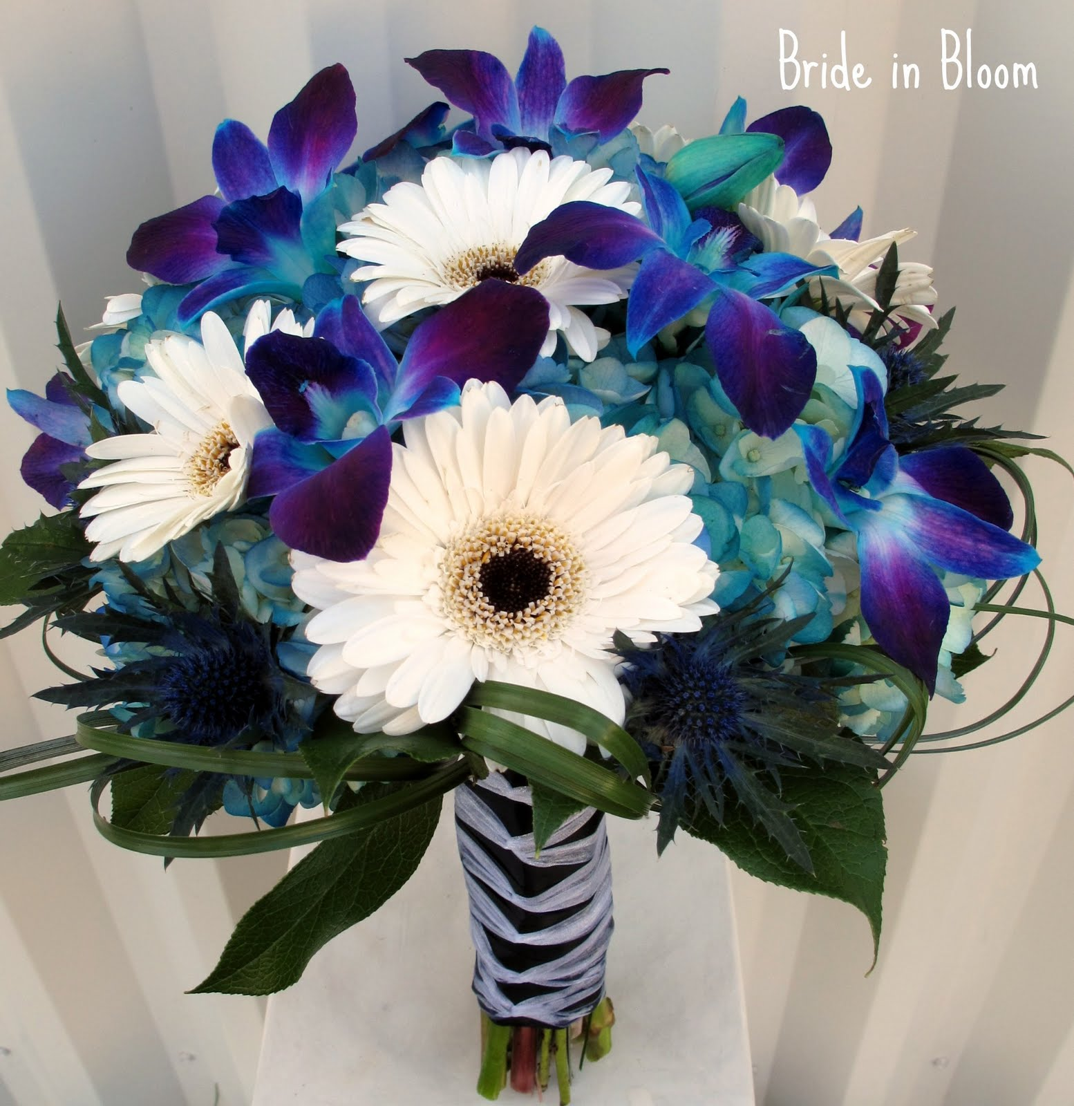 Bride in Bloom Blue orchid bridal bouquets