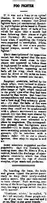 Foo Fighter - Northern Times (Carnarvon, WA) 6-29-1945