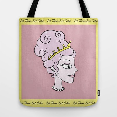 http://society6.com/blissikins/let-them-eat-cake-pink-with-yellow-boarder-by-blissikins_bag#26=197