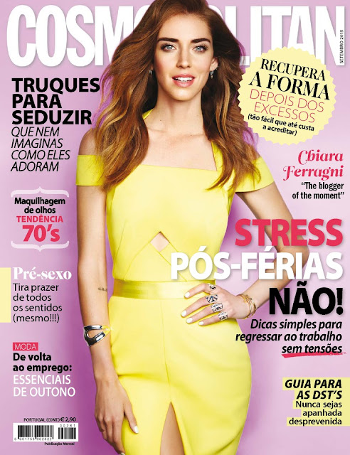 Fashion Designer, Model @ Chiara Ferragni - Cosmopolitan Portugal, September 2015