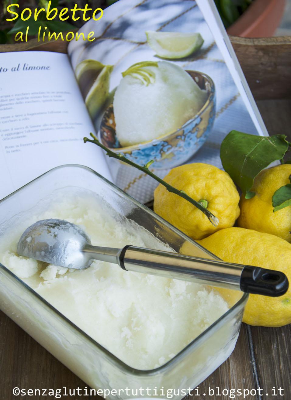 sorbetto ai limoni di sicilia senza glutine