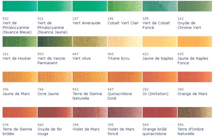 Nuancier rose for Peinture palette de couleur
