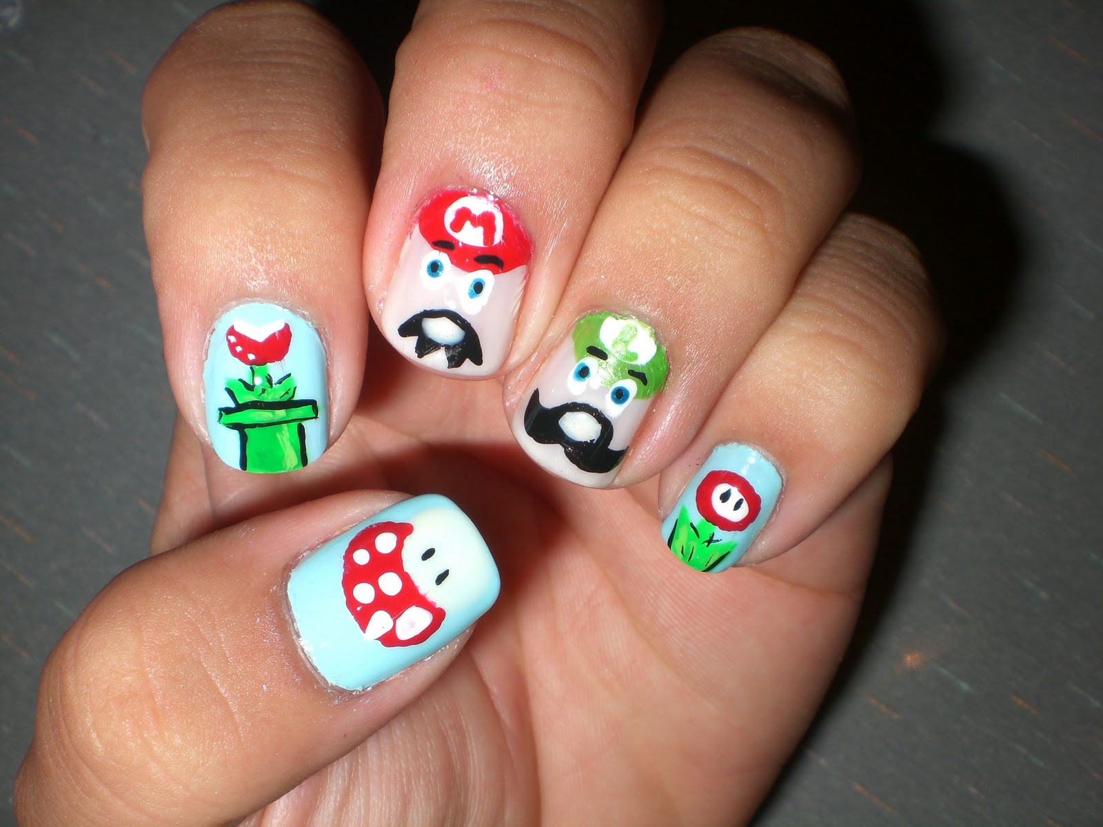 Oh Me! Oh My!: Super Mario Nails