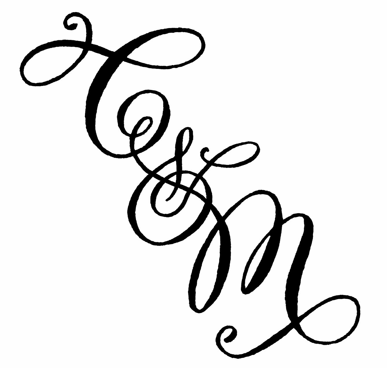 A To Z Calligraphy Monograms