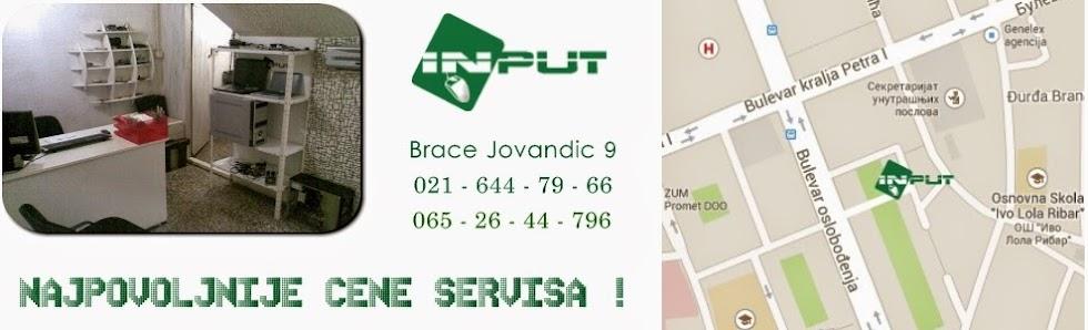 Servis Racunara Novi Sad -INPUT- Servis Kompjutera Novi Sad