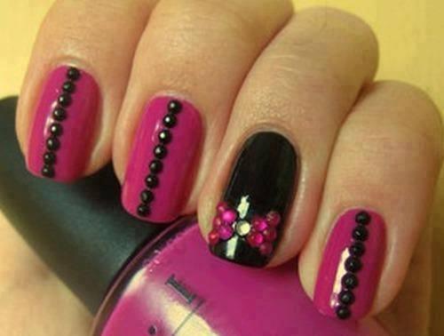 uas acrilicas rosas