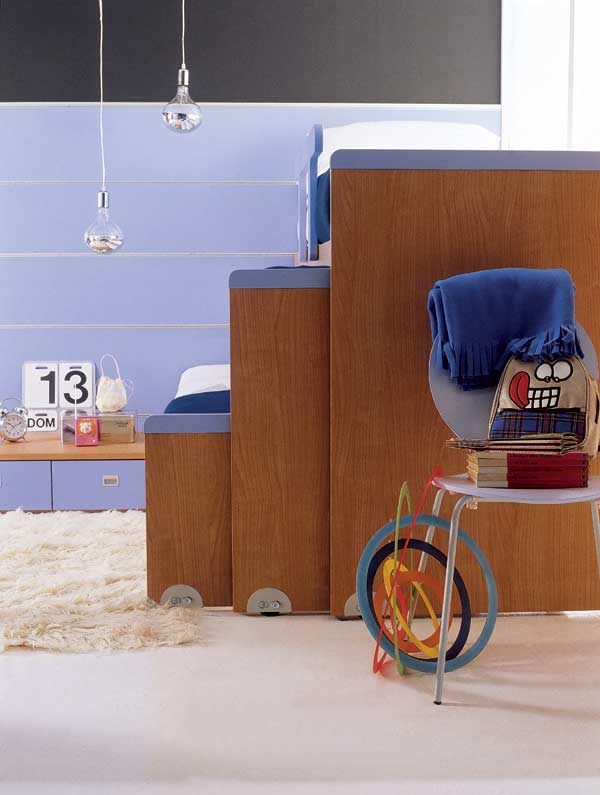 Bonetti camerette bonetti bedrooms cameretta con tre letti for Cameretta a tre letti