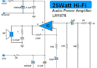 schematic audio power amplifier with ic tda2612 electronic circuit25w hi fi audio amplifier lm1875