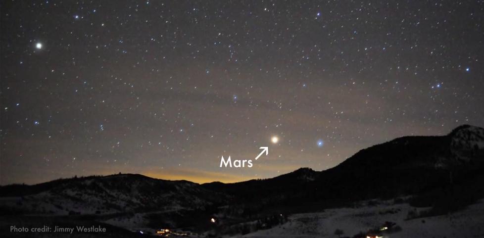 Close approach of Mars. Credit: Jimmy Westlake