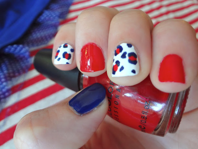 patriotic leopard print nails