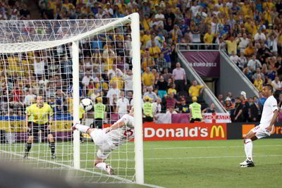 Фото Укринформ:гол в ворота англичан не зафиксирован