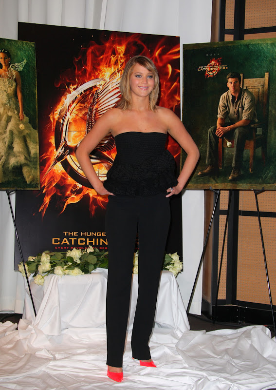 Jennifer Lawrence attends The Hunger Games: Catching Fire Photocall