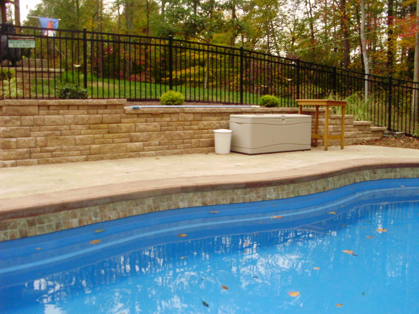 Water Pool Tiles : Pool tile beige water line