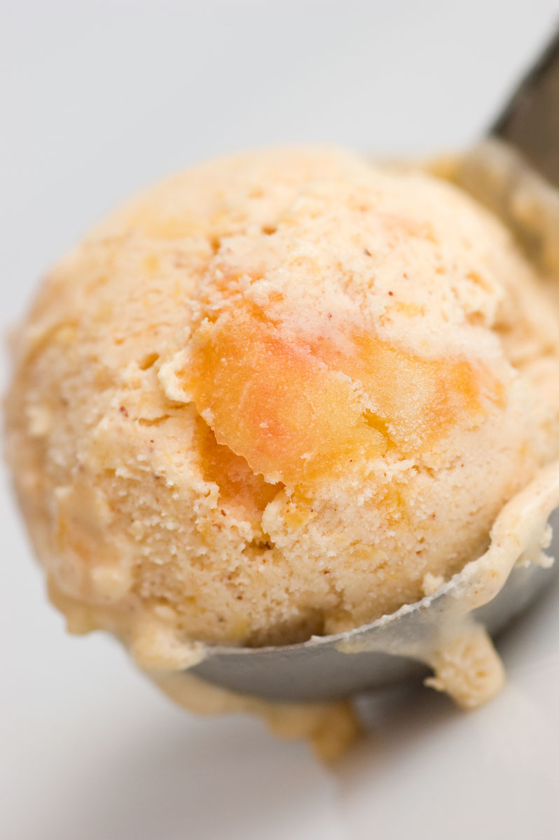 Sugar & Spice by Celeste: Buttermilk Peach Ice Cream with Cinnamon