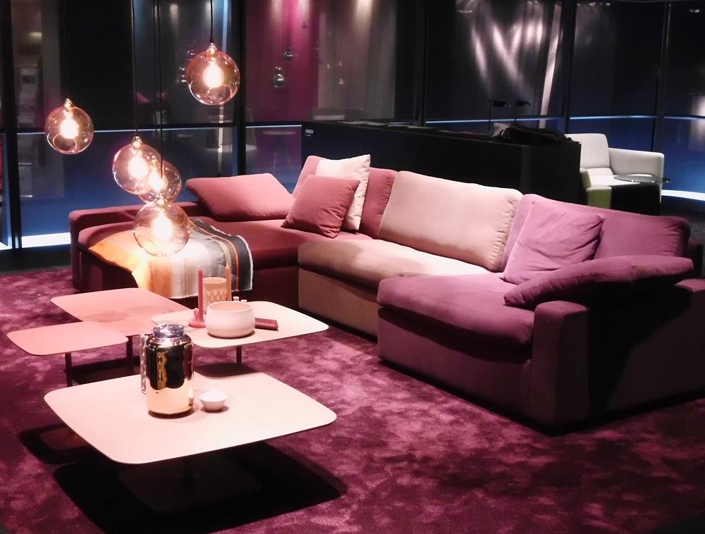 COR traut sich neben dem herrschenden Grau auch zu Rosa auf der Kölner Möbelmesse imm cologne 2014