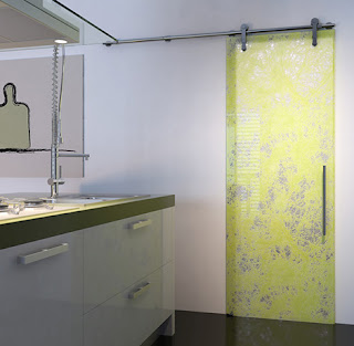 puerta de cristal moderna