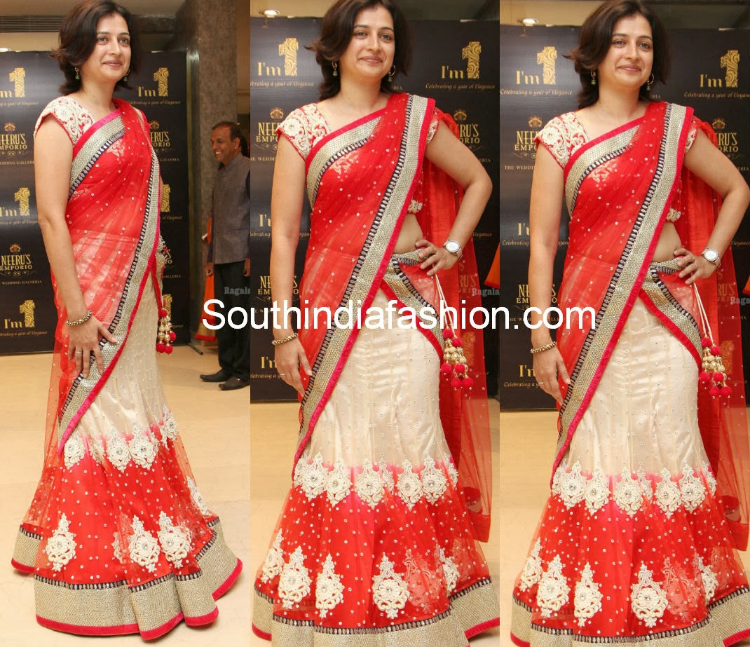 party wear half sarees