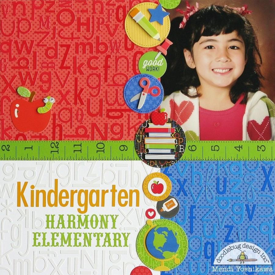 Scrapbook ideas school - Doodlebug Back To School Layouts Using Alphabet Stickers