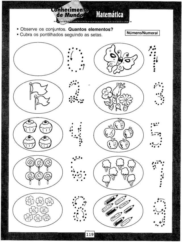 Excepcional Atividades para educação infantil - quantidade e número  FE14