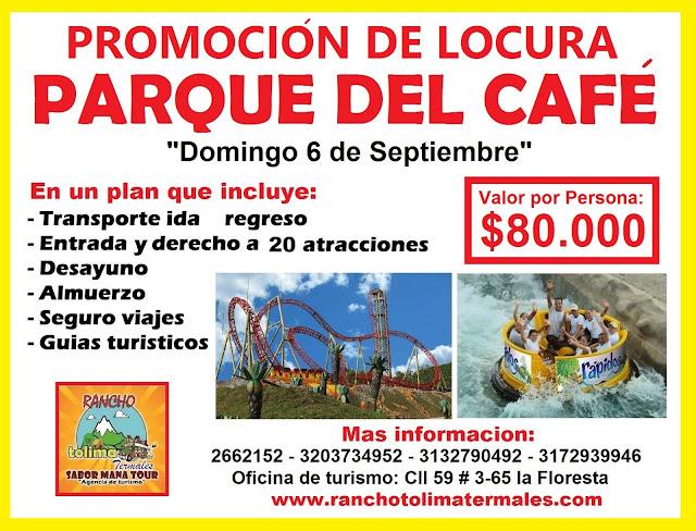 Sabor mana tour promoci n de locura parque del caf para for Parque japones precio de entrada