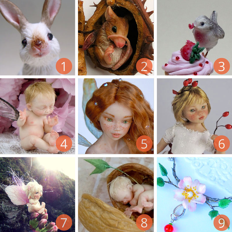 Rabbits, Robins, Mice, Fairies and other Celidonia's creatures