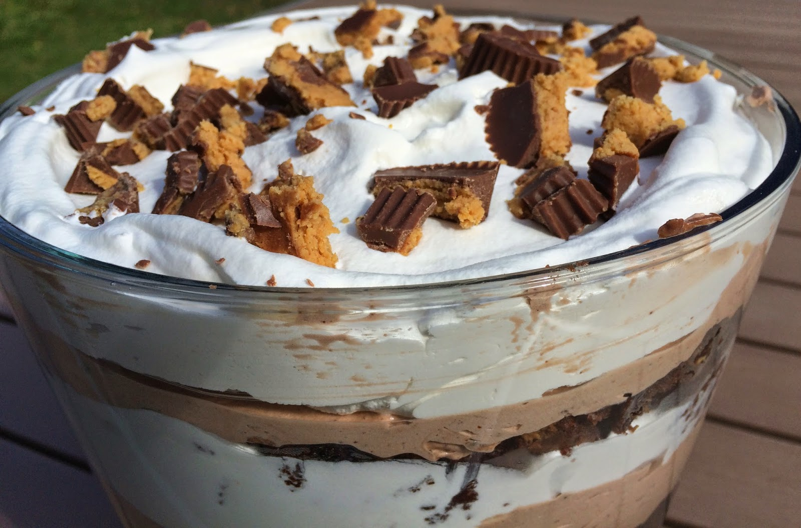 Peanut Butter Chocolate Brownie Trifle