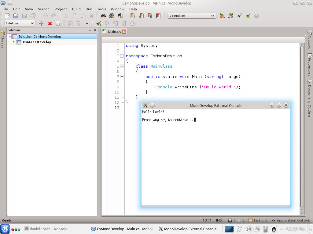 monodevelop windows compiled