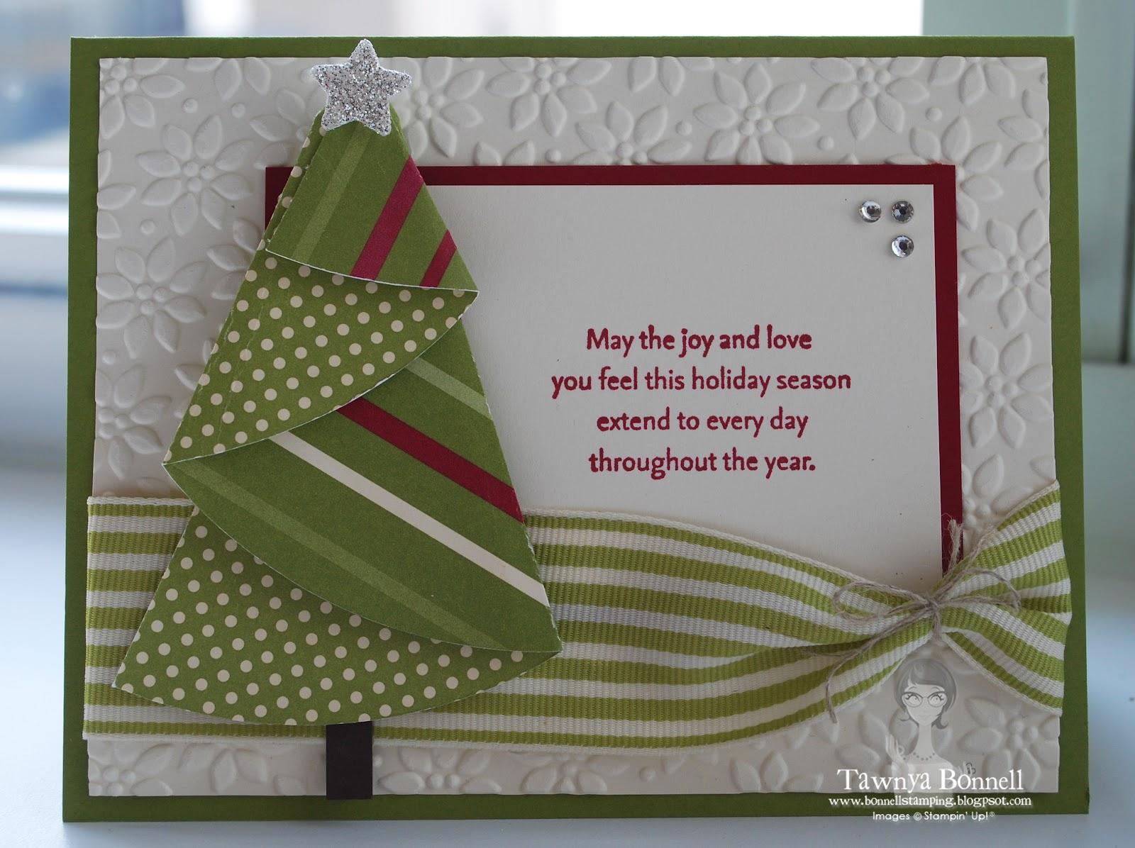 Handmade Fun: Folded Christmas Tree Card and How to Make it